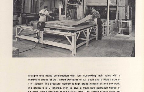 A series of leaflets of presses and equipment