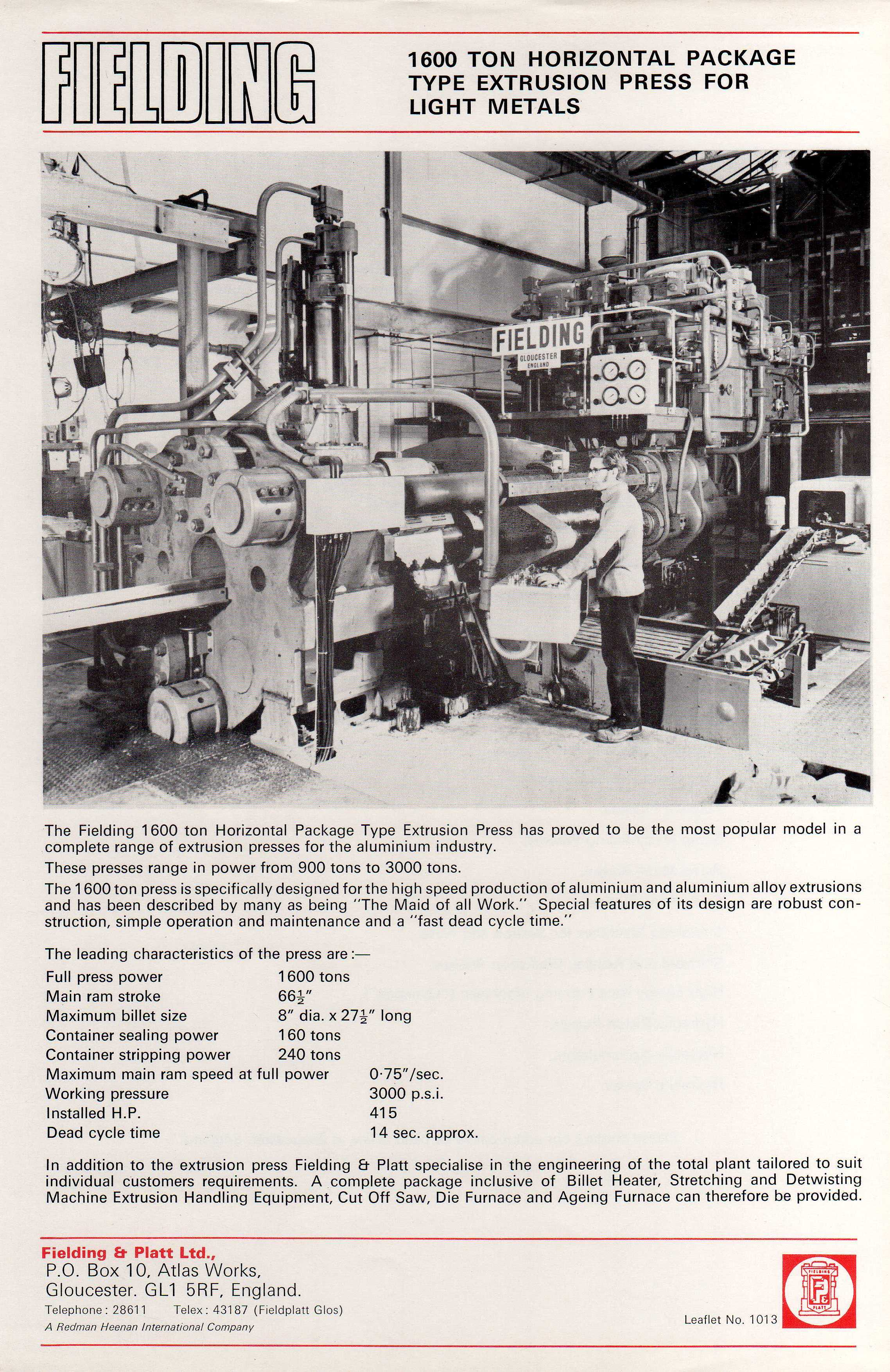 A series of leaflets of presses and equipment | Leaflets and