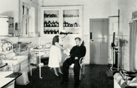 Nurse Edwards at Work in First Aid Room