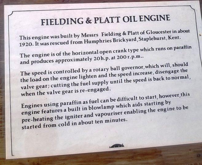 'Fielding' 20 BHP Paraffin Oil Engine | Kindly provided by John Davis