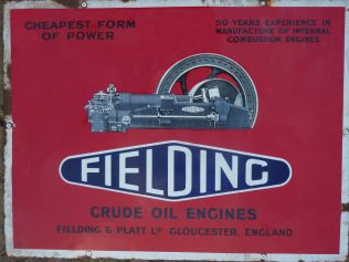 Enamel Sign 50 Years of Engine Building | Trevor Hill