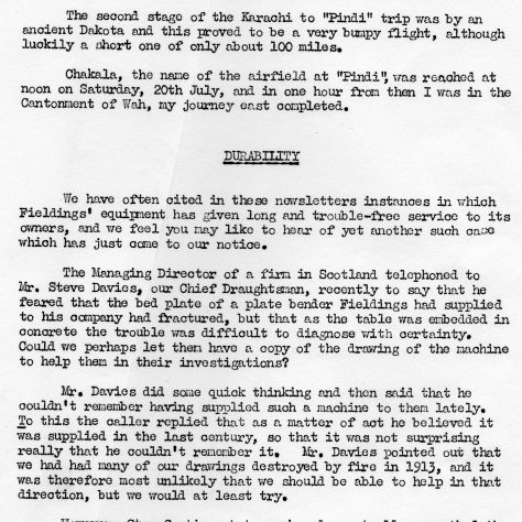 FORCES NEWSLETTER 1958 EDITION