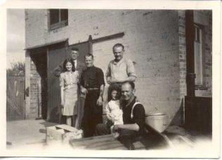 German POWs - Rudolf in black in the centre