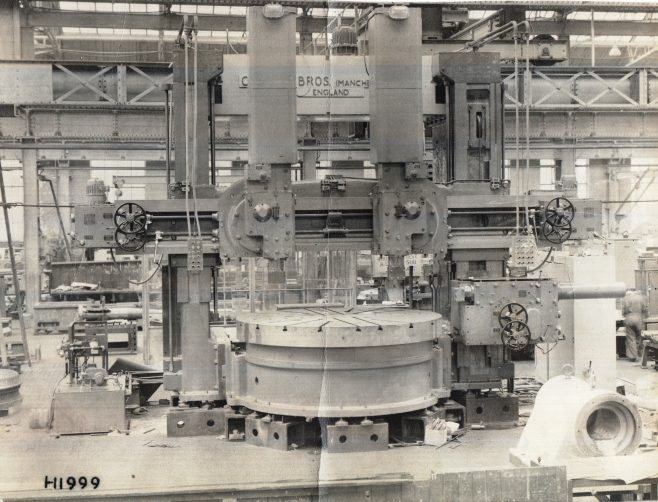PR0012  10' Craven Boring Machine under construction in Manchester | The Paul Regester Collection