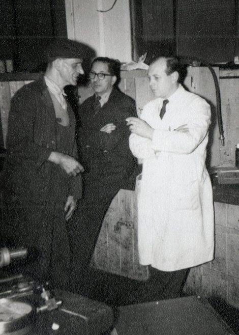 Alf Critchley, Jack Sysum, Monty Blunt.