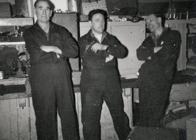 George Simpson, Henry Savage, Arthur Aperley.