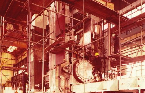 Views of the assembly of a Davy Rolling Mill, for overseas, O/No. G89460, c.1975