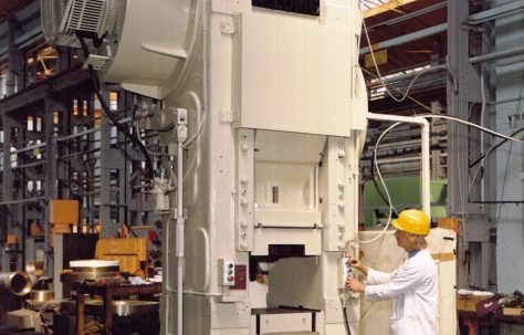 Refurbished 500 ton Craig & Donald Mechanical Press, O/No. G93760, c.1977