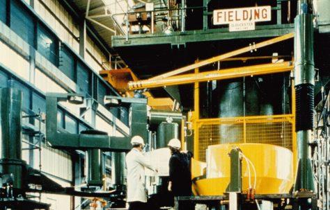 3100 ton Vertical Hydraulic Press, for shipment to Poland, O/No. V89580, c.1975