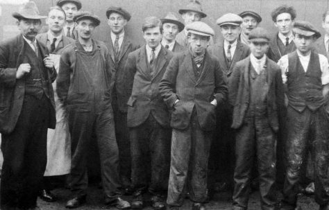 Photograph of R J Lane, sons, and other Fielding workers
