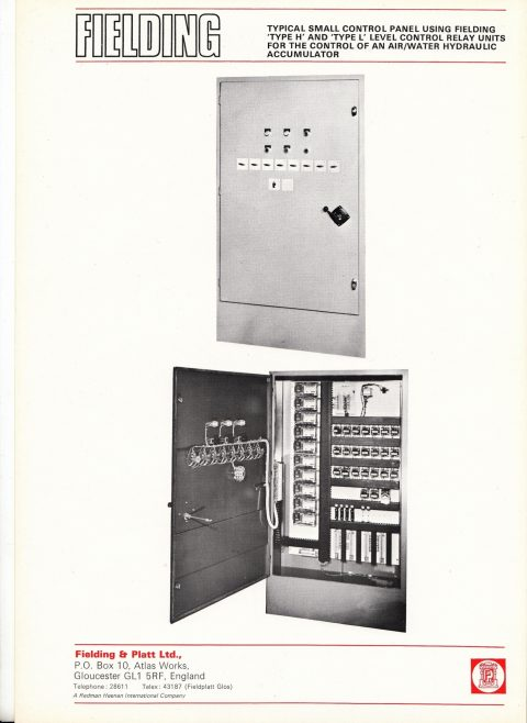 Small control panel for Type 'H' & Type 'L' Electronic Relays | Gloucestershire Archives and John Bancroft copy