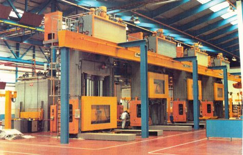 Hydraulic Spring Composite Moulding Presses, view taken on site in 1985, O/No. X62600, c.1984